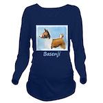 Basenji Long Sleeve Maternity T-Shirt
