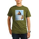 Basenji Organic Men's T-Shirt (dark)