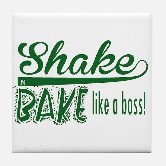 ShakenBake:like a boss Tile Coaster