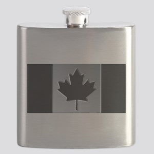 Canadian Flag Winter Camo Pattern Flask