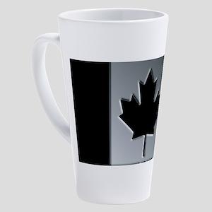 Canadian Flag Winter Camo Pattern 17 oz Latte Mug