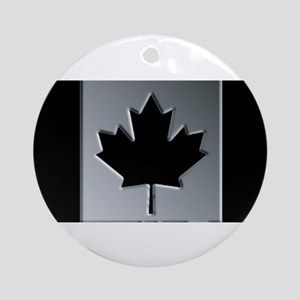 Canadian Flag Winter Camo Pattern Round Ornament