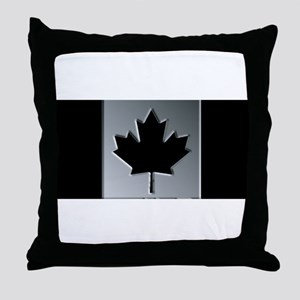 Canadian Flag Winter Camo Pattern Throw Pillow