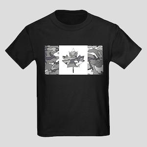 Canadian Flag Winter Camo Pattern T-Shirt