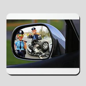 Rear-view Hit & Run Mousepad