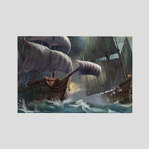 Battle Between Ships Magnets