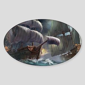 Battle Between Ships Sticker