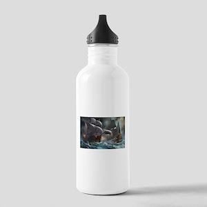 Battle Between Ships Water Bottle