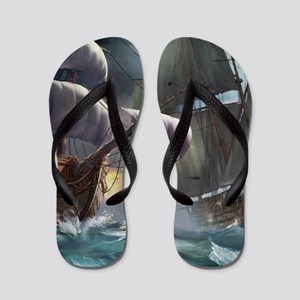 Battle Between Ships Flip Flops