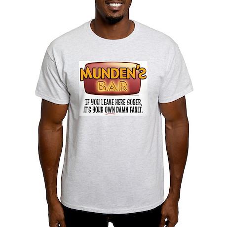 Munden's Bar Sober Alt. Ash Grey T-Shirt