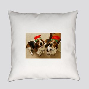 howliday_bassets Everyday Pillow