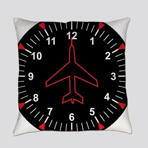 Heading Indicator Clock Everyday Pillow