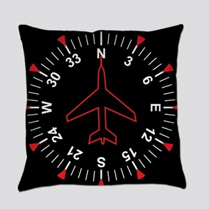 Flight Instruments Everyday Pillow
