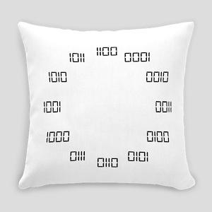 Binary Clock Everyday Pillow