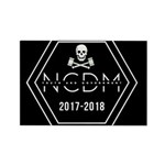 Ncdm 2017-2018 Black Logo Magnets