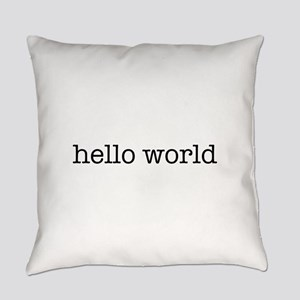 Hello World Everyday Pillow