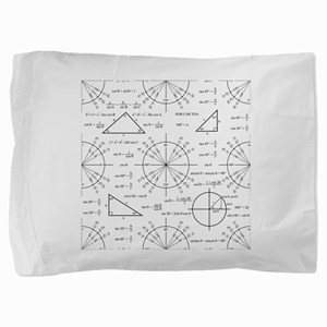 Trig and Triangles Pillow Sham