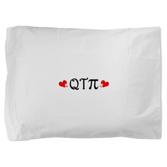 qtpiheart.png Pillow Sham