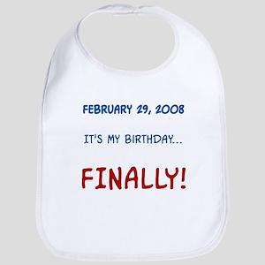 My Birthday... FINALLY Bib