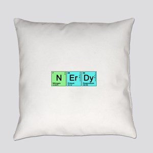 nerdy_color_bk Everyday Pillow
