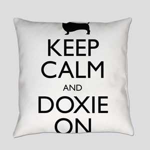 Keep Calm and Doxie On Everyday Pillow