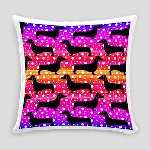 Rainbow Dachshunds Everyday Pillow