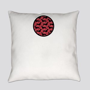 Red Polka Doxies Everyday Pillow