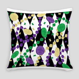 Mardis Gras Beads Everyday Pillow