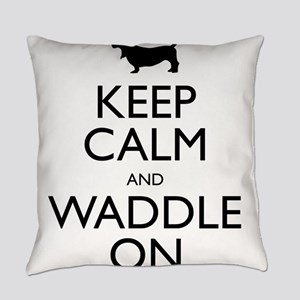 Keep Calm and Waddle On Everyday Pillow