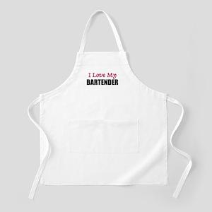 I Love My BARTENDER BBQ Apron