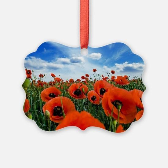Poppy Flowers Field Ornament