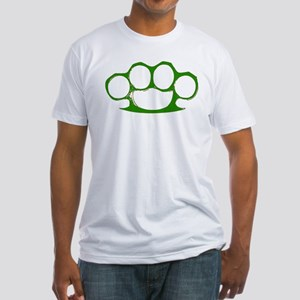 Green Brass Knuckles Fitted T-Shirt