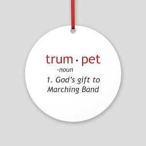 God's Gift Trumpet Ornament (Round)