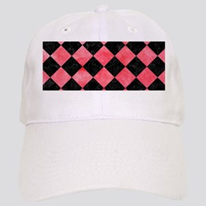 SQUARE2 BLACK MARBLE & RED WATERCOLOR Cap