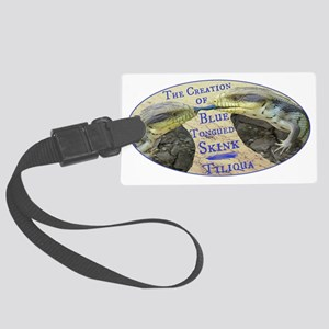 The Creation of Blue Tongued Skink Luggage Tag