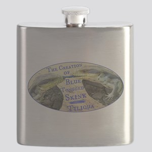 The Creation of Blue Tongued Skink Flask