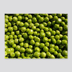 peas, vegetable, 5'x7'Area Rug