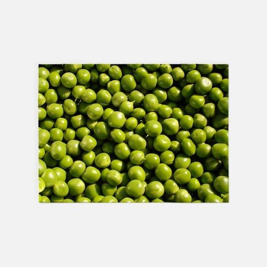 peas, vegetable, 5'x7'Area Rug
