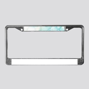 Icy Teal Blue Watercolor License Plate Frame