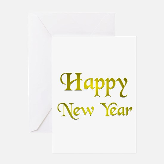 Happy New Year Gold.:-) Greeting Card