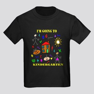I'm Going to Kindergarten Kids Dark T-Shirt