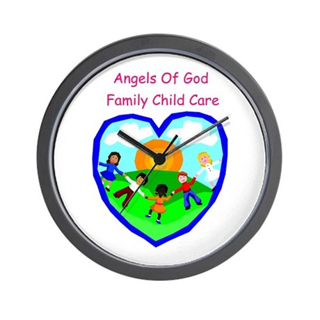 Angels of God Family Child Care Wall Clock