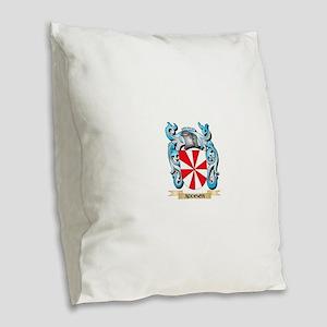 Addison Coat of Arms - Family Burlap Throw Pillow