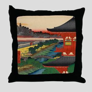 JAPANESE PRINT OF EDO 2 Throw Pillow
