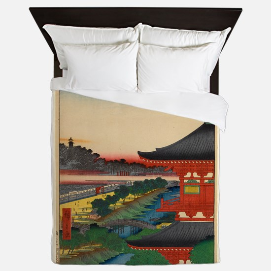JAPANESE PRINT OF EDO 2 Queen Duvet