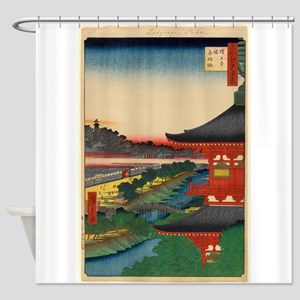 JAPANESE PRINT OF EDO 2 Shower Curtain
