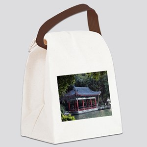 Pavilion, Lake Ronghu, Guilin, Ch Canvas Lunch Bag