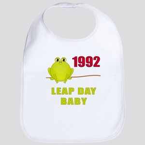 1992 Leap Year Baby Bib