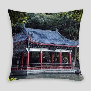 Pavilion, Lake Ronghu, Guilin, Chi Everyday Pillow