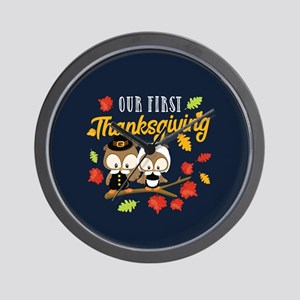 Our 1st Thanksgiving Wall Clock